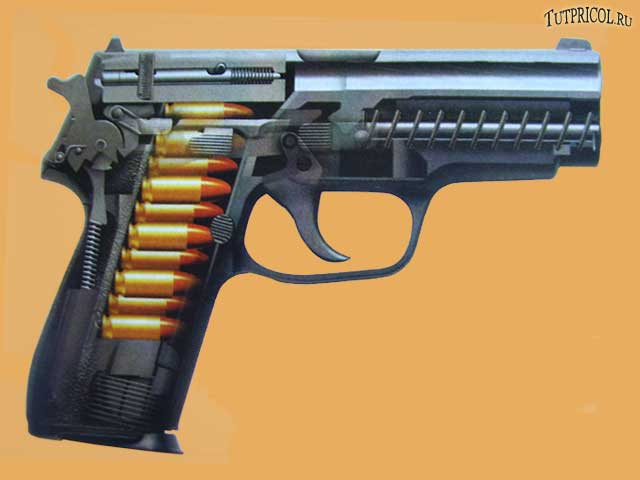 Разрез Пистолета SIG - SAUER