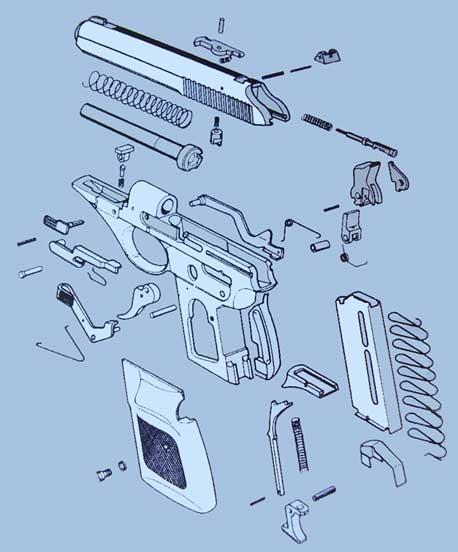 Схема пистолета SIG - SAUER