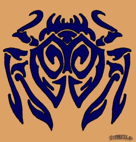 Картинка татуировки паук