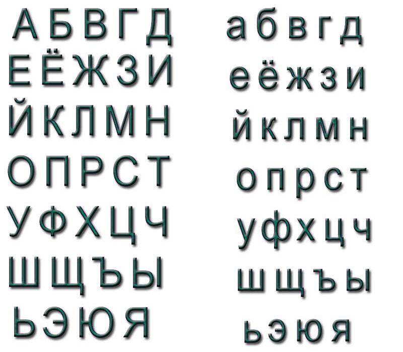 Трафареты букв для плакатов