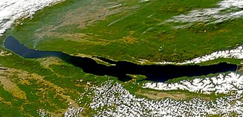 Озеро Байкал вид из космоса